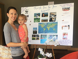 Fundraiser, Christi Cartwright-Lacerda and baby