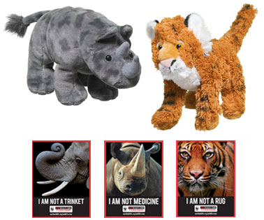 rhino and tiger plush
