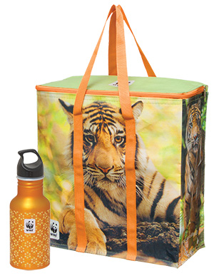cooler bag and water bottle