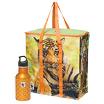 Tiger Cooler Bag and Water Bottle