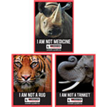 Three Stop Wildlife Crime Decals