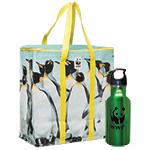 Penguin Cooler Bag and Water Bottle