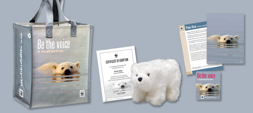 Receive this polar bear and matching tote when you symbolically adopt today